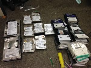 破壊されたディスク